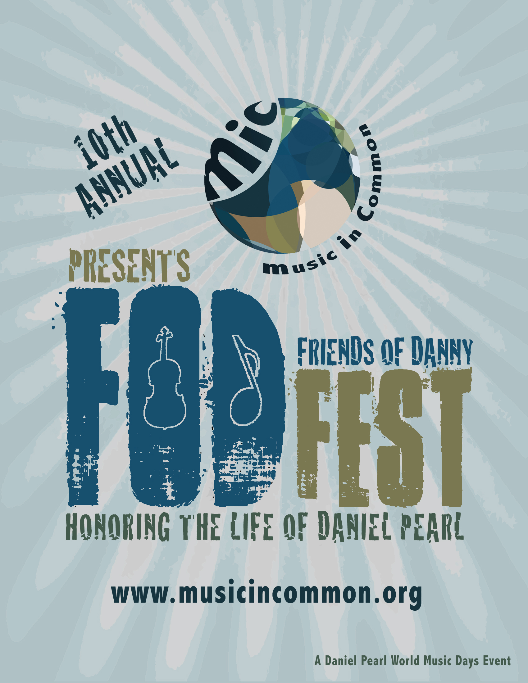 10th Annual FODfest poster